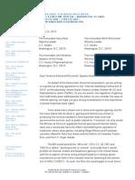 Democratic Governor's Letter (03/25/2014)