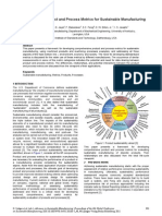 A Framework of Product and Process Metrics for Sustainable Manufacturing