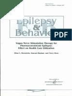Vagus Nerve Stimulation Therapy for Pharmacoresistant Epilepsy