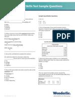 Basic Skills Sample Questions