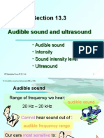 Section 13.3 Audible Sound and Ultrasound