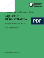 A Guide for the Identification of British Aquatic Oligochaeta