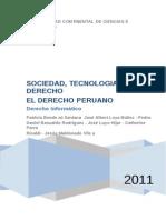 Sociedad Tecnologia y Derecho Derecho Peruano