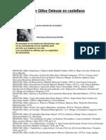 Bibliografía de Gilles Deleuze en castellano