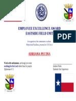 adriana pecina excellence award
