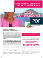 Profession de Foi de Mme Jeanny MARC-MATHIASIN