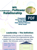 Leader- Follower relationship