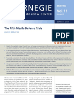 The Fifth Missile Defense Crisis