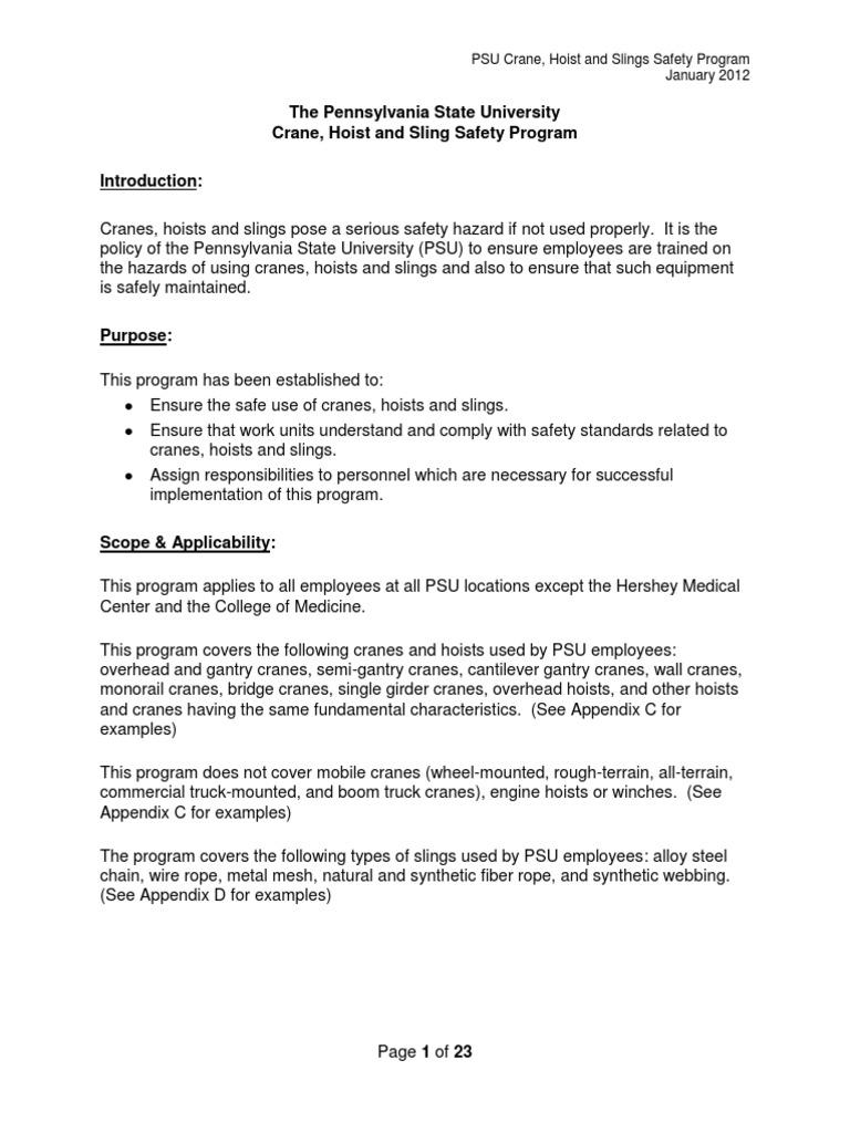 Crane Hoist Sling Program(Bueno) | Crane (Machine) | Elevator