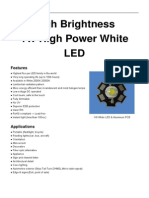 High Brightness 1W High Power White LED