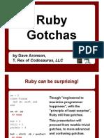 Ruby Gotchas