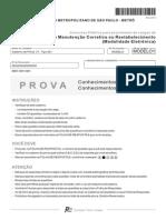 METRÔ Caderno de prova técnico Manut Corretiva (Eletrônica) Março/2010