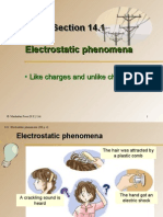 Section 14.1 Electrostatic Phenomena