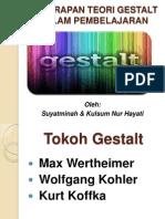 Penerapan Teori Gestalt Dalam Pembelajaran Knh Oleh: Suyatminah & Kulsum Nur Hayati