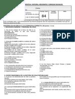 EVALUACIÓN  DIAGNÓSTICA  HISTORIA GEOGRAFIA Y CIENCIAS SOCIALES 7º AÑO 2014