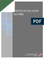 PROYECTO DE LICOR DE PIÑA