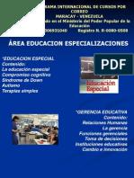 Area Cursos Educacion Area Especialidades