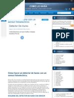 Hacer Un Detector de Humo Fotoelectrico | COMO LO HARIA