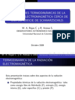 presentacion sobre termodinamica de la radiacion electromagnetica cerca a una superficie de schwarzschild