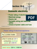 Section 15.6 Domestic Electricity