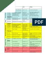 Sermon Schedule 2009-2010