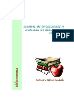 Temario Oposiciones Auxiliar Bibliotecas
