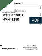Operating Manual (Mvh-8250bt - Mvh-8250) - Eng - Esp - Por