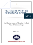 The impact of raising the minimum wage on women