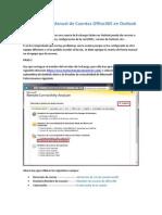 Conectar Outlook Manualmente a Office365