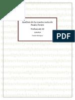 """Análisis de la """"Cuarta carta"""" de Paulo Freire"""
