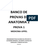 Banco de Provas de Anatomia 2- Prova 1