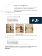 Method Statement for Copper Pipe Cutting