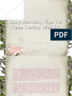 Easy Morning Tips to Keep Losing Weight