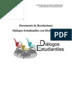 Documento de Resoluciones - Dialogos Estudiantiles Con Distrito Tec