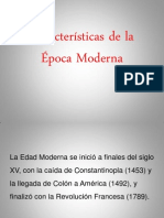 Características de la Época Moderna
