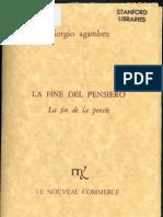 Giorgio Agamben, La fine del pensiero