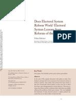 SCHEINER, Ethan - Does Electoral System Reform Work - Electoral System Lessons From Reforms of the 1990s