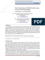 Highly Secure Online Voting System with Multi Security using Biometric and Steganography