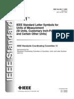IEEE Std 260.1-2004 Standard Letter Symbols for Units of Measurement