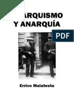 Anarquismo y anarquía, de Errico Malatesta