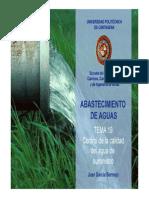 Tema 19 Control de Calidad de Las Aguas