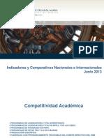 Indicadores y Comparativos Institucionales Junio 2013