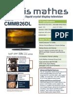 New CM 26 Spec Sheet NC