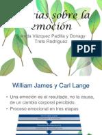 Teorías sobre la emoción