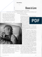 Harold Bloom and Shakespeare