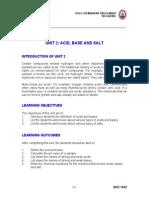 Unit 2 Asid, Base and Salt