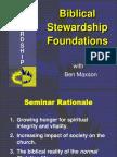 Biblical Stewardship Foundations