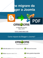 Come Migrare da Blogger a Joomla