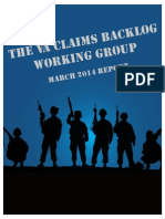 The VA Claims Backlog Working Group March 2014 Report