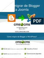 Cómo migrar de Blogger a Joomla con CMS2CMS